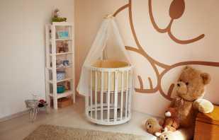Причина популярности детских круглых кроватей, распространенные модели с описанием