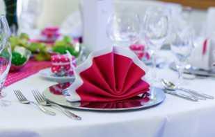 Нюансы выбора салфеток для праздничного стола, правила их размещения