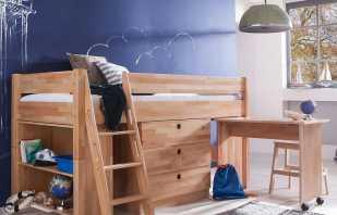 Особенности кроватей-чердаков с рабочей зоной, популярные варианты