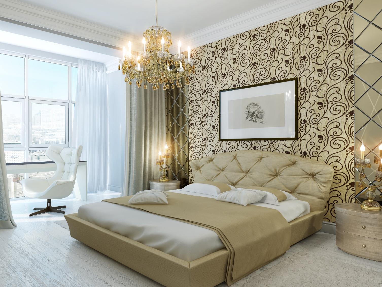 Tapete schlafzimmer beige