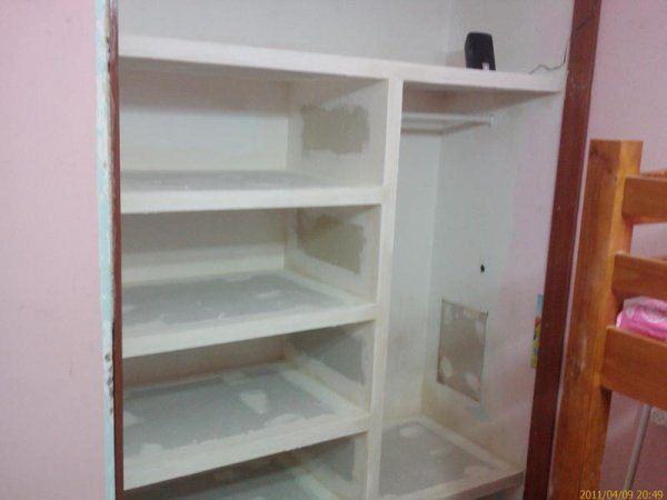 Как из гипсокартона сделать встроенный шкаф