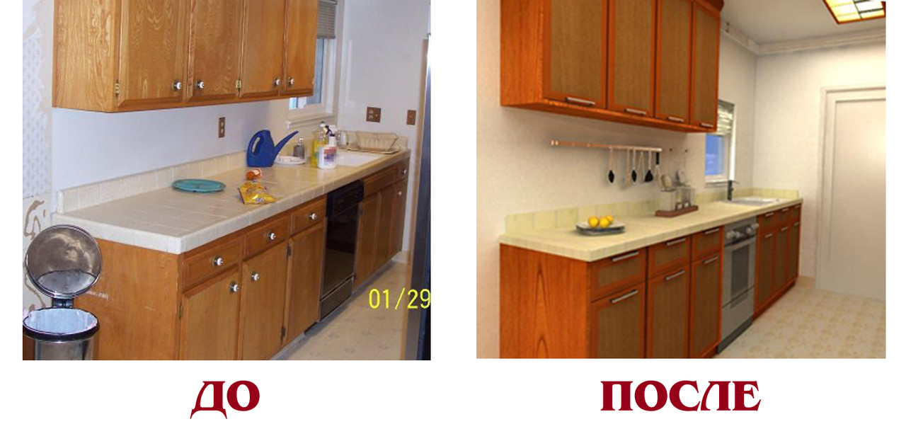 Как обновить мебель на кухне своими руками фото