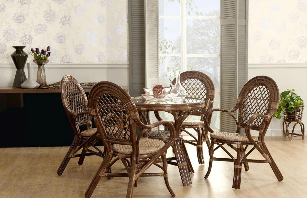 Фото мебели из ротанга в интерьере