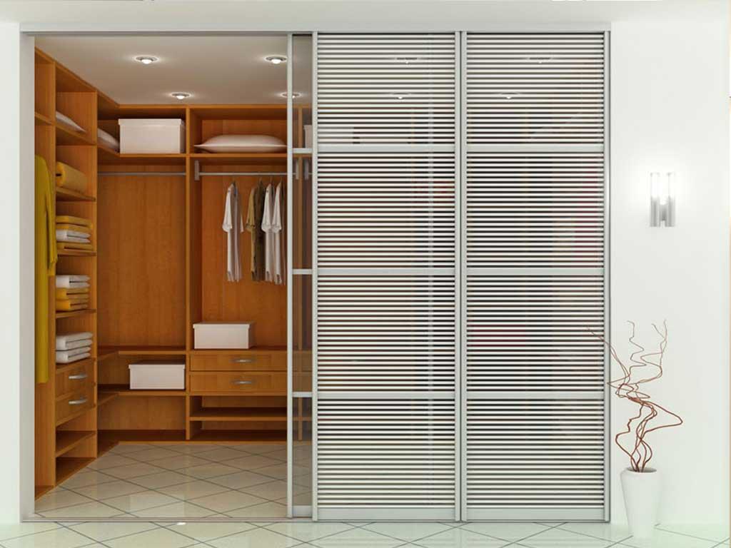 Раздвижные двери в гардеробную комнату своими руками 11