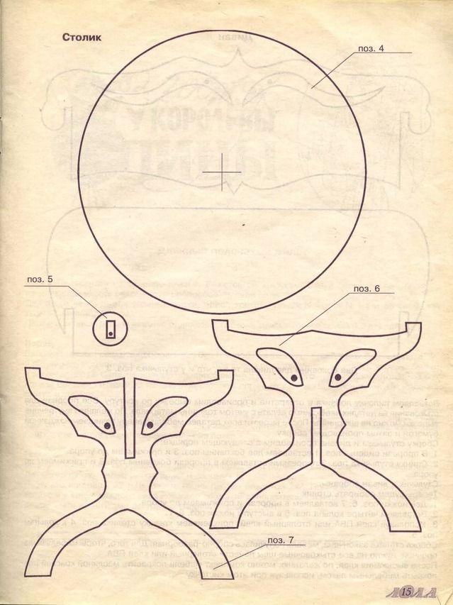 Столы из фанеры своими руками чертежи