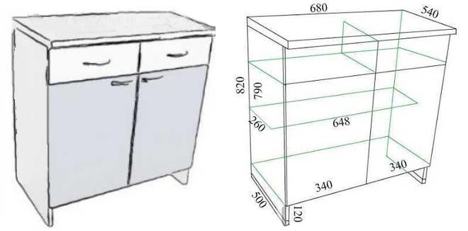Кухонный стол-тумба своими руками чертежи и схемы сборки 24
