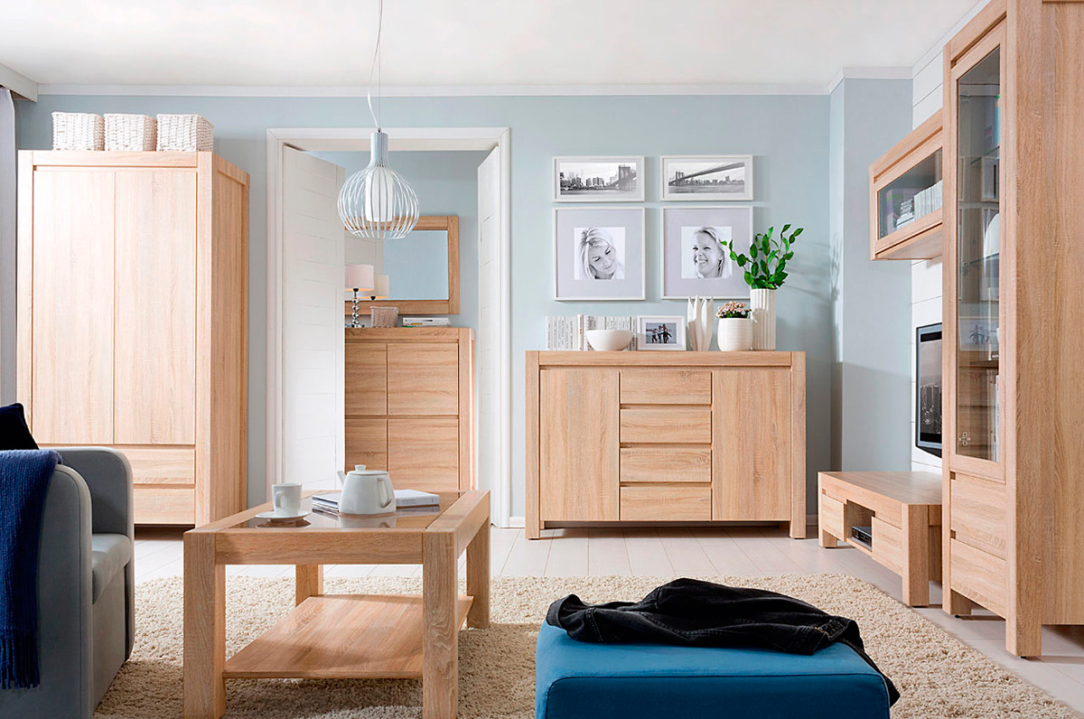 Мебель цвета дуб молочный в интерьере фото