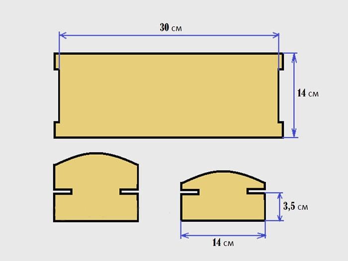 Схема кроватки для куклы своими руками из картона