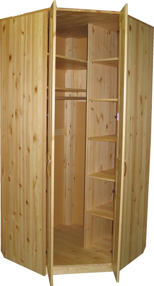 Деревянный шкаф угловой