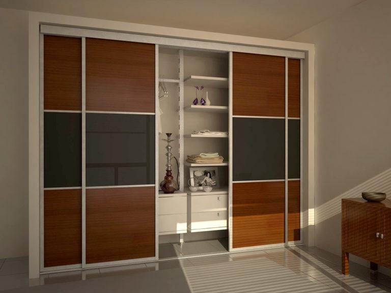 Встроенный шкаф с раздвижными дверьми своими руками 96