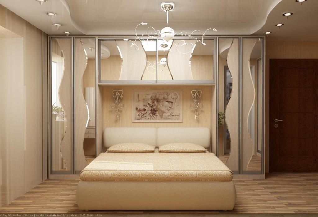 Дизайн спальни со встроенными шкафами