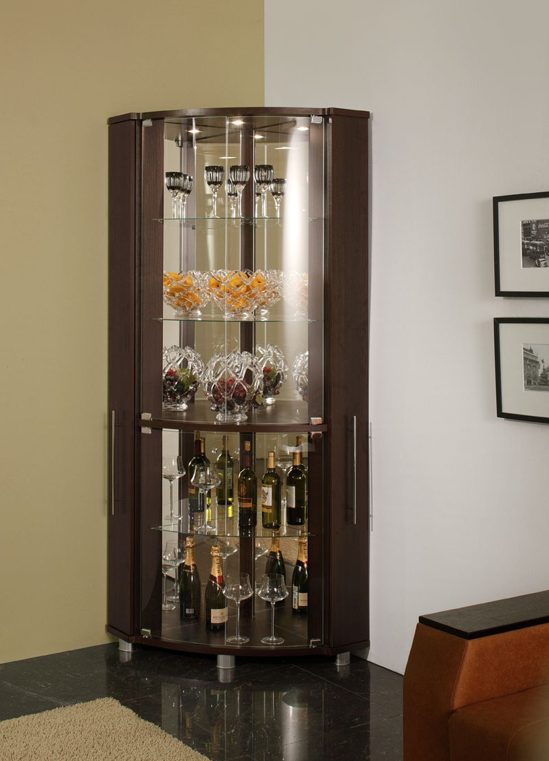 Угловой шкаф для посуды в зал дизайн идеи 422