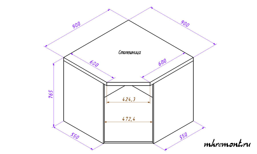 Как сделать угловую тумбу своими руками схемы чертежи