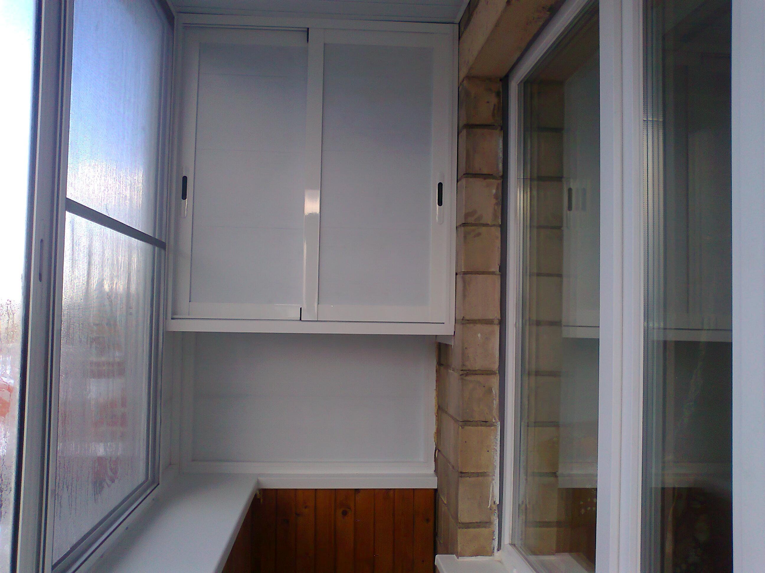 Как сделать шкаф на балконе своими руками Коттедж 49