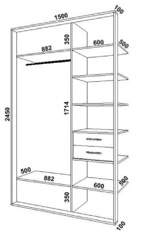 Встроенный шкаф в нишу своими руками чертежи и схемы