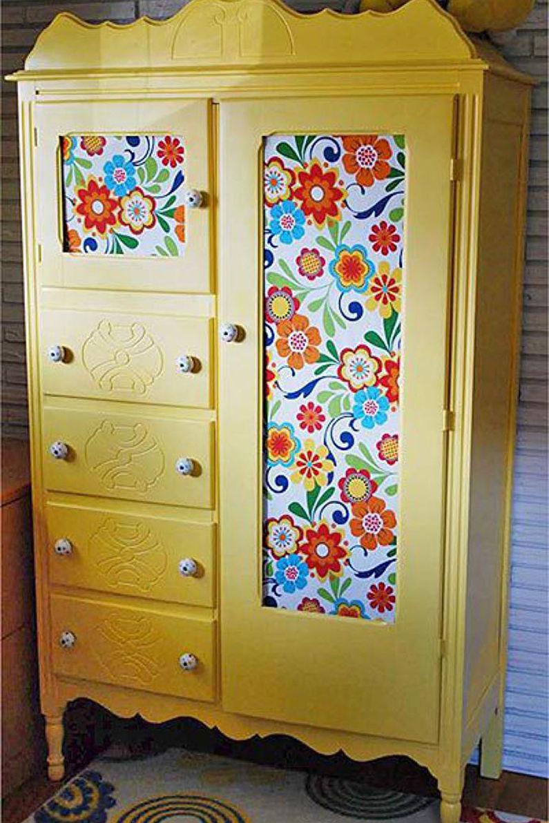 Как отреставрировать деревянный шкаф своими руками