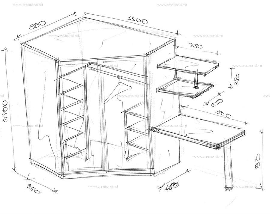 Встроенный угловой шкаф своими руками чертежи и схемы 119