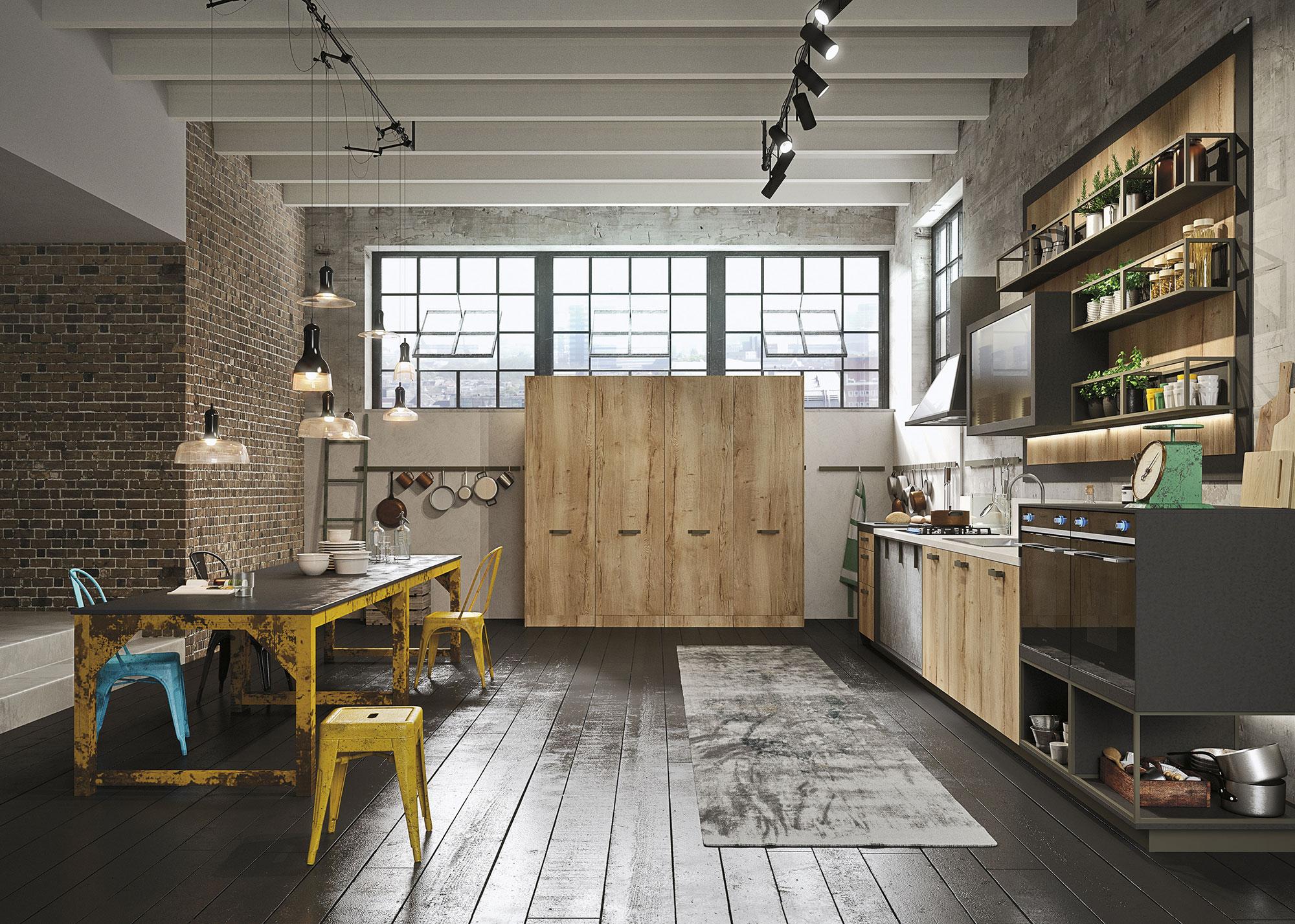 Кухонная мебель в стиле лофт своими руками 46