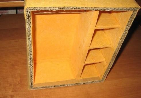 Как сделать шкаф для куклы из коробки от обуви 919