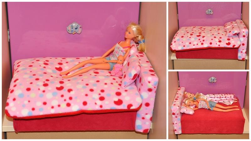 Как сделать кроватку своими руками барби 433