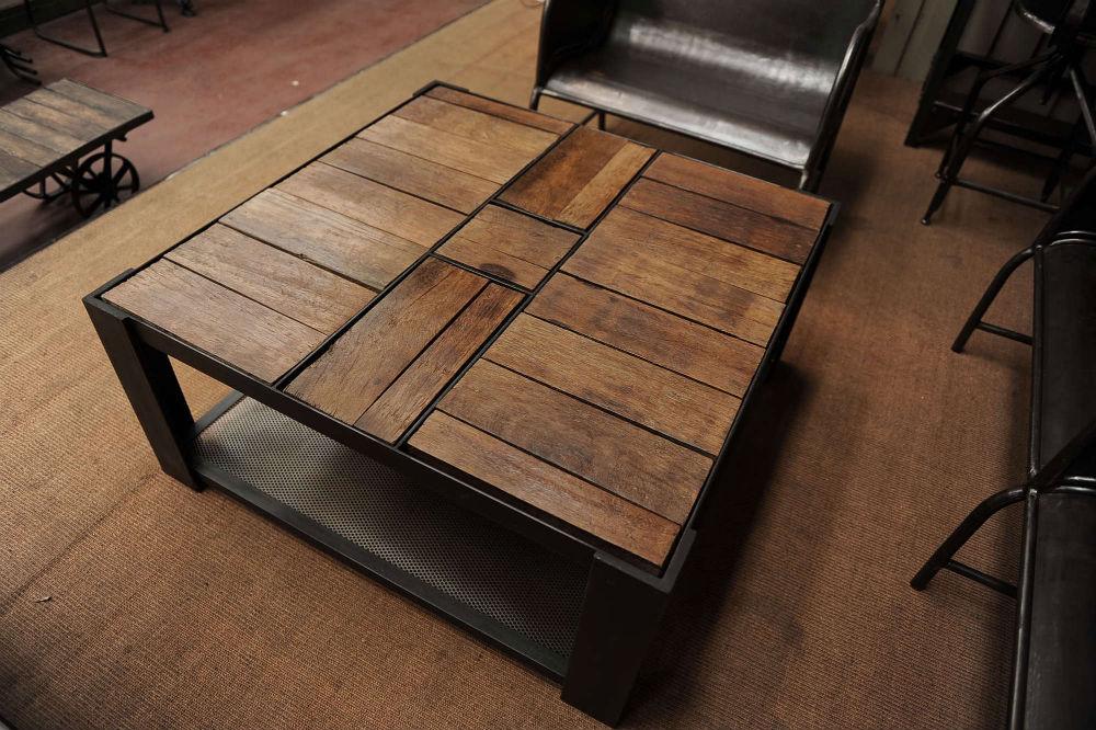 Столы из дерева и металла своими руками 64