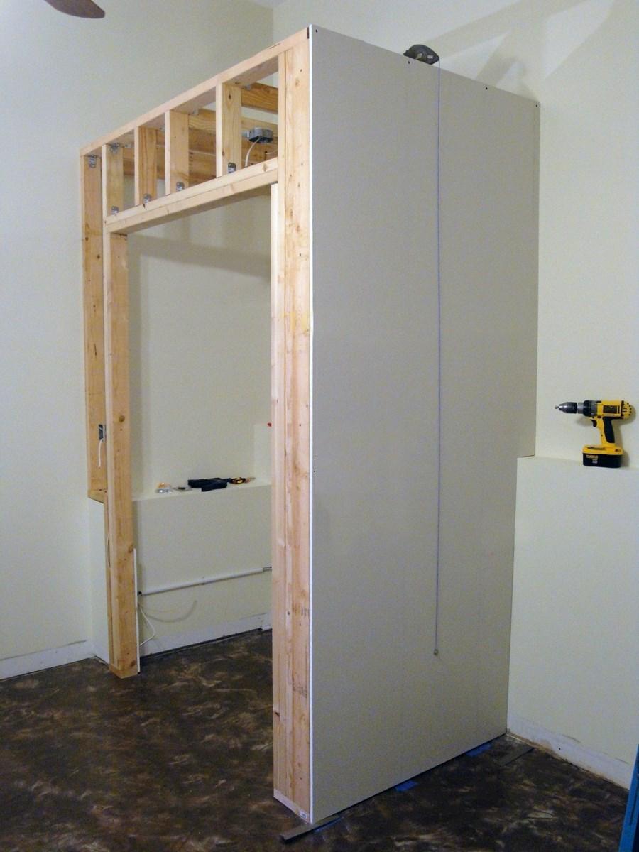 Как сделать шкаф с дверями 116