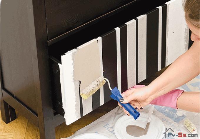 Как изменить цвет шкафа своими руками 45