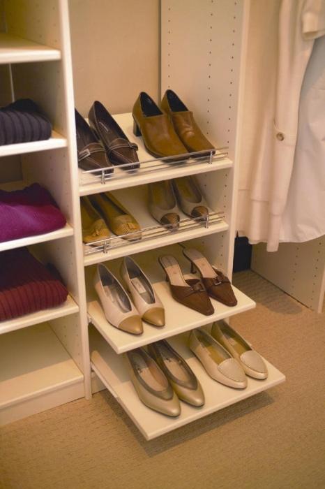 Полка для обуви в шкаф своими руками фото 62