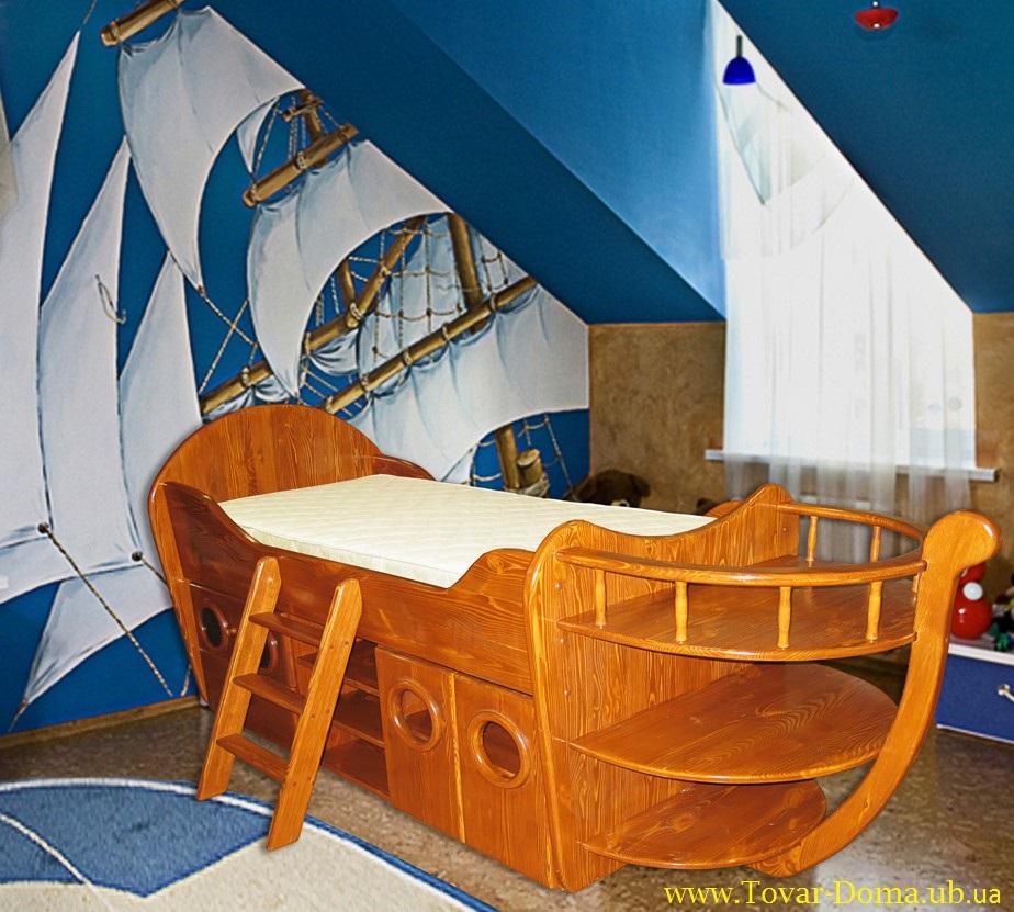 Кровать детская корабль своими руками 17