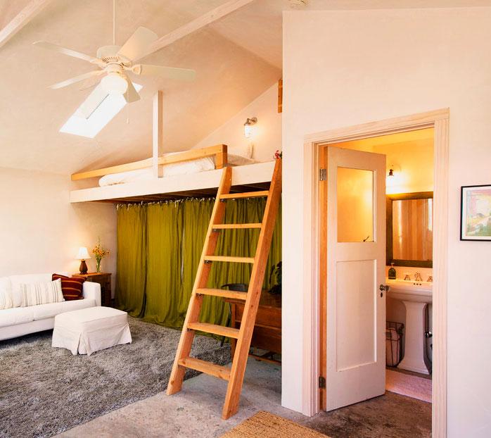Как сделать спальню под потолком 843
