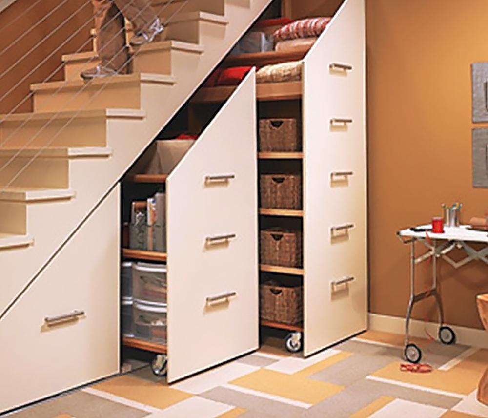 Шкаф под лестницу своими руками фото