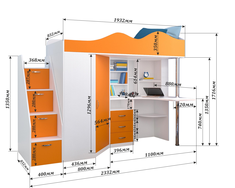 Мебель со схемами и размер