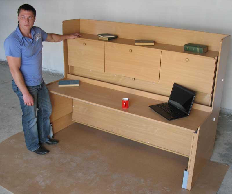 Как сделать кровать стол трансформер своими руками 73